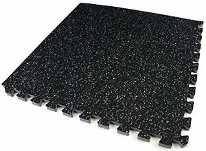 Sivan Health And Fitness Puzzle Exercise Mat Rubber Interlocking Gym - How to clean black rubber gym flooring