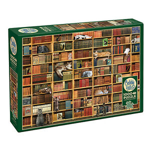 Outset-Media-Livres-Chats-et-1000-Piece-Jigsaw-Puzzle