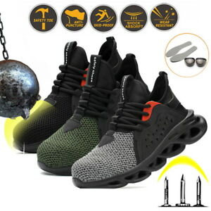 Mens Lightweight Steel Toe Cap Work Safety Shoes Boots Sports Hiking Sneakers