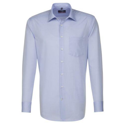 Seidensticker Uomo camicia manica lunga Splendesto Chambray 2000.15 blu chiaro