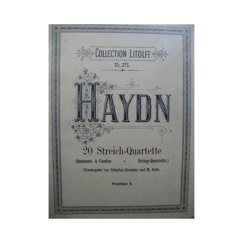 HAYDN Joseph 20 Streich Quartette Streichquartette Violine Alt- Violoncello