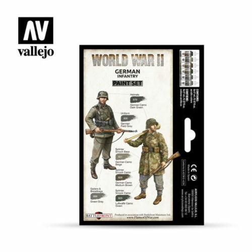 VALLEJO 70206 Wargames WWII German Infantry Figures Paint Set 6 Colors FREE SHIP