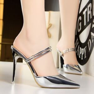 Womens-Pointed-Toe-Slingback-Sandals-Slim-High-Heels-Solid-Elegant-Shoes-Party