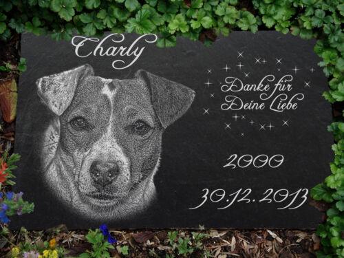 Jack Russel GRABSTEIN Tiergrabstein Grabmal Hunde Hund-021 ►Textgravur◄30 x 20cm