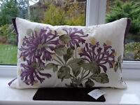 Laura Ashley Honeysuckle Cushion With Silk Embroidery In Grape