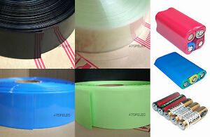 Colorful PVC heat shrink tubing 66mm width Φ42mm for AA 18650 battery pack set