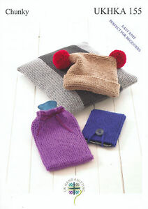 Image Is Loading Easy Knit Hat Cushion Hot Water Bottle Tablet