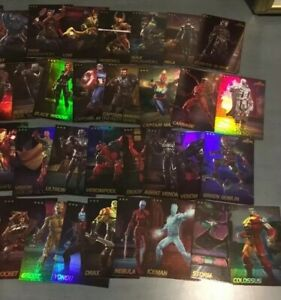 Full-Mixed-Set-of-Marvel-Contest-Of-Champions-Arcade-Game-Cards-Dave-Busters