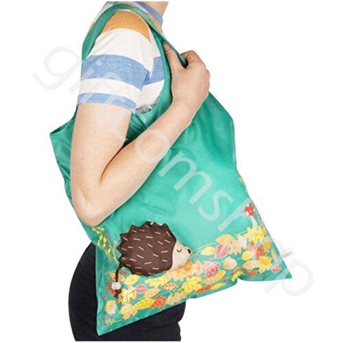Sass and Belle Reusable Handbag Animal Shopping Tote Grocery Eco Foldable Bags