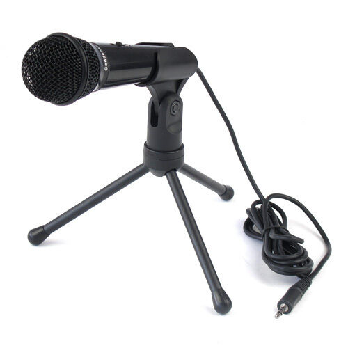 3.5mm Condenser Sound Podcast Studio Microphone For PC Laptop Skype MSN SF910 BL