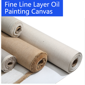 Blank-Canvas-Roll-Oil-Painting-Linen-Blend-Primed-High-Quality-Artist-Supplies