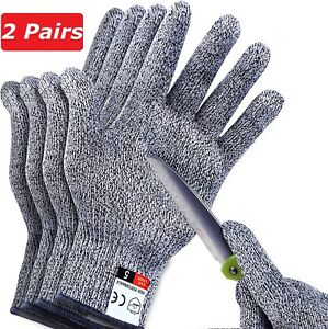 2-Pairs-Safety-Cut-Proof-Stab-Resistant-Stainless-Steel-Wire-Mesh-Butcher-Gloves