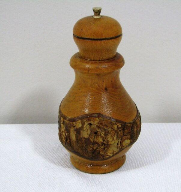 Vintage Large Wood Pepper Mill Grinder Ebay