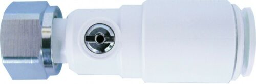 """JOHN GUEST SPEEDFIT STRAIGHT PLASTIC SERVICE VALVE with TAP CONNECTOR 15mm x1//2/"""""""