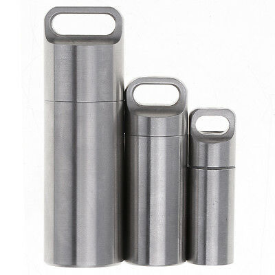304 Stainless Steel Toothpick Holder Outdoor Travel Survival Pill Case Container