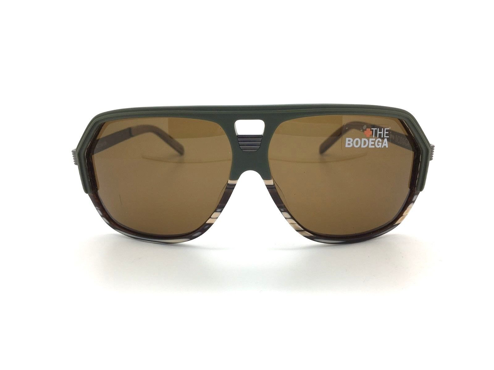 SPY+ Optic  Bodega Sunglasses 670087288069 Green & Brown Horn Frame w Bronze Lens  incredible discounts