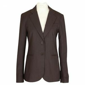 THEORY Women's dark Brown Blazer Jacket 0 XS Lined Two Button Rory ...