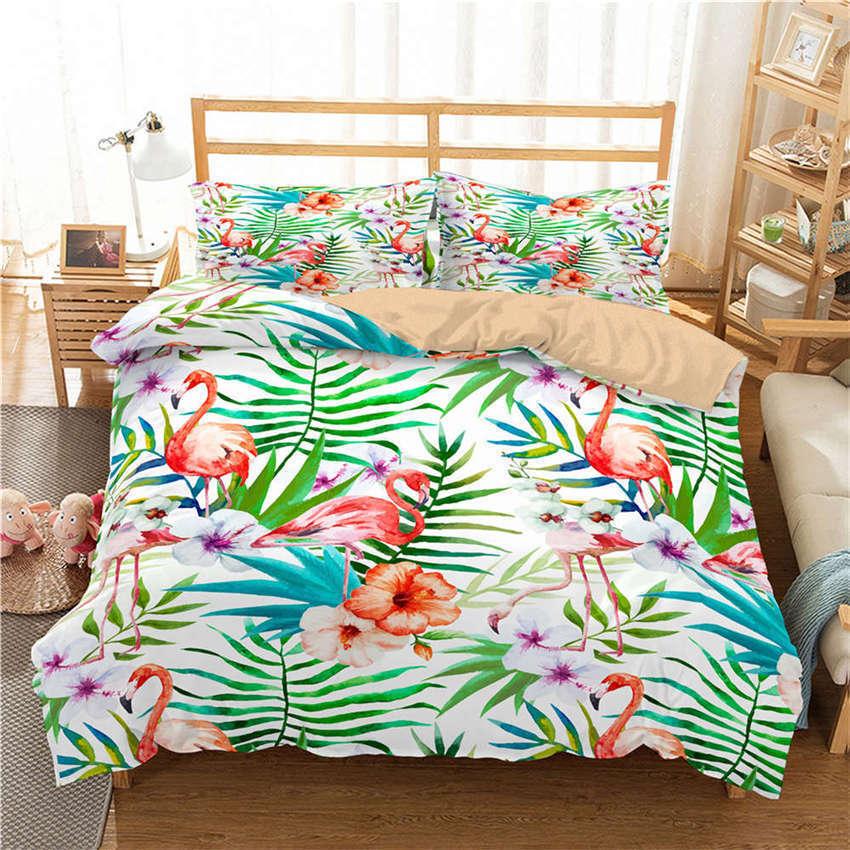 Core Middle Flower Purple 3D Digital Print Bedding Duvet Quilt Cover Pillowcase