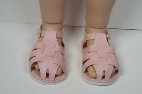 "Debs LT PINK Fisherman Sandals Doll Shoes Fits 23/"" My Twinn Poseable"