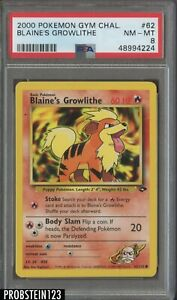 2000 Pokemon Gym Challenge #62 Blaine's Growlithe PSA 8 NM-MT