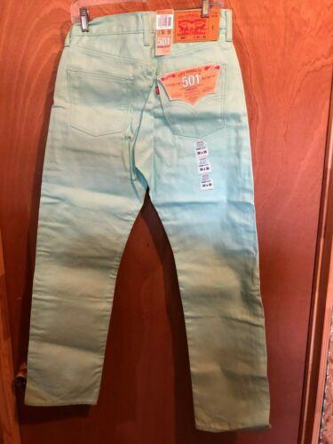 30 Pour Vert Denim Levis Taille Hommes X Bouton 501 Jeans Mouche AXzXwaOpY