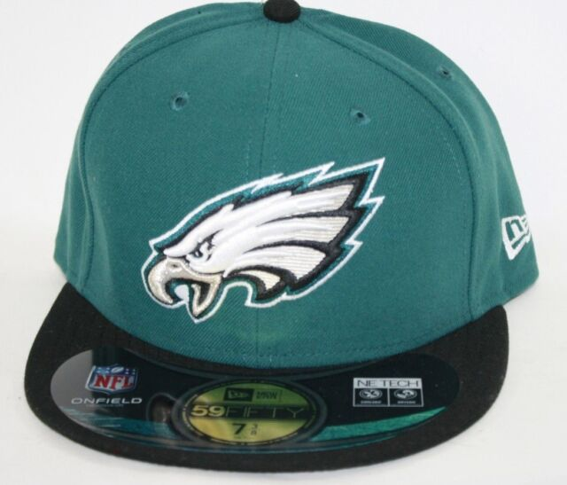 NEW Mens NEW ERA Philadelphia Eagles NE Tech NFL 59FIFTY Green Fitted Hat  Cap 0494dcaff19