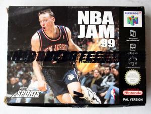 NINTENDO 64 NBA JAM 99 European Edition PAL N64 nuevas enmiendas!