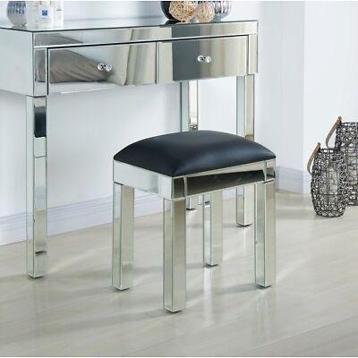 Mirrored Stool Bedroom Furniture Modern Design Black or Clear