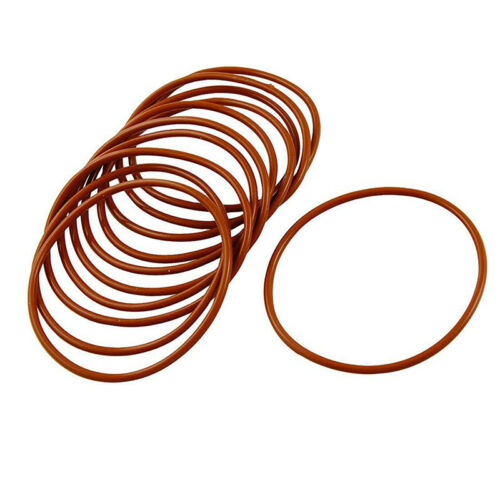 W4H3 10 Pcs Industrial Silicone O Ring Seal 55mm x 60mm x 2.5mm