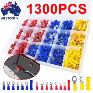 1300X-Terminals-Electrical-Wire-Connector-Kit-Assorted-Insulated-Crimp-Spade-Set