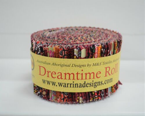 """2.5/"""" Aboriginal Jelly Roll Indigenous Quilting Patchwork Dreamtime Roll 40 Strip"""