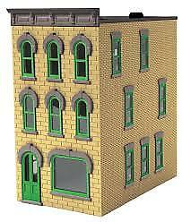 MTH RailKing Cream & Green 3-Story Town House O Gauge Model Trains 30-90506
