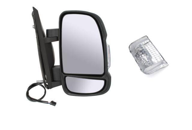 Rétroviseur DROIT Miroir à électrique POUR FIAT DUCATO 06- SHORT CHAUFFANT NEUF