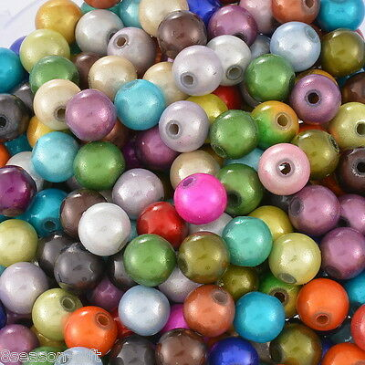 300 Mixed Miracle Acrylic Round Spacer Beads 8mm