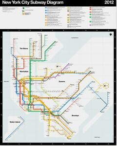 Massimo Vignelli Subway Map 1978.Details About Massimo Vignelli S Signed 2012 Nyc Mta Subway Diagram Limited Edition Poster