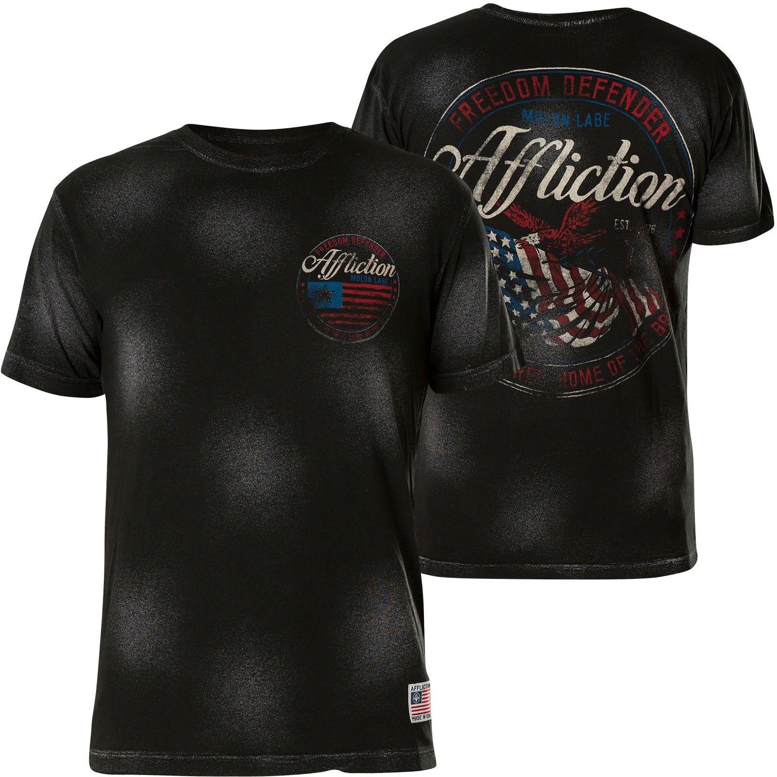 AFFLICTION T-Shirt Flag Of Freedom black T-Shirts