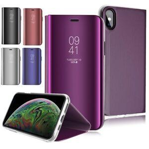 housse-etui-coque-flip-cover-chrome-pour-iphone-XS-X-XR-MAX-APPLE