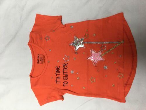Girls Novelty T Shirt Glitter Soft Cotton Elastane New Spring Summer collection