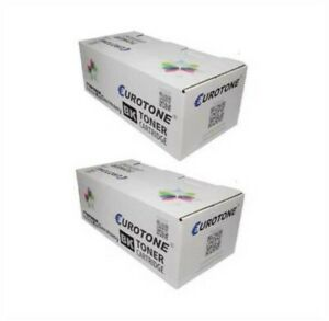 2x Eco Eurotone Toner Black For Canon FX-6 Powerfax L 1000 Approx. 5.000 Pages