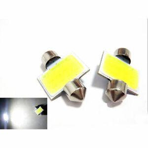 2Pcs-Ultra-31mm-3W-Auto-Weiss-COB-LED-Soffitte-Innenraumbeleuchtung-Gift-Lic-E0X8