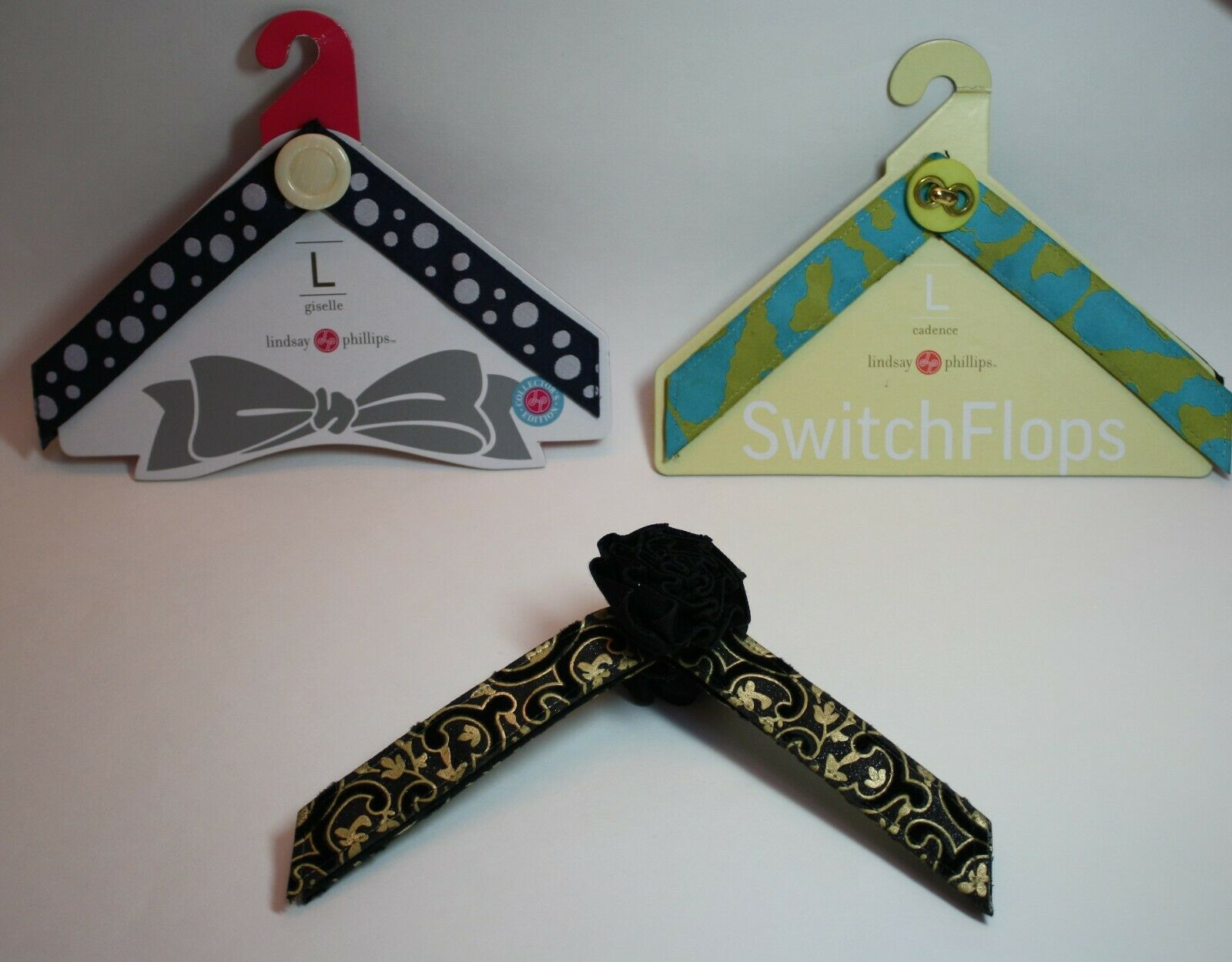 Lot of 3 LINDSAY PHILLIPS SWITCHFLOP STRAPS Size L for Switch Flops Sandals
