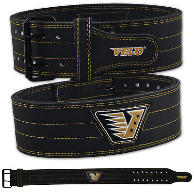 Initiative Velo Power Weight Lifting Belt Leather Gym Back Support Training Fitness