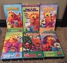6 Bear In The Big Blue House VHS Tapes Jim Henson Christmas, Sharing, Special
