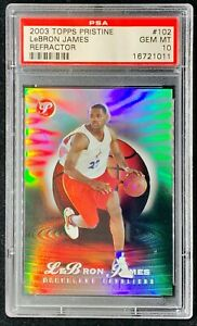 2003 Topps Pristine Refractor LeBron James ROOKIE RC /499 #102 PSA 10 GEM MINT
