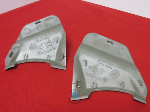 CHRYSLER Aspen DODGE Durango LEFT /& RIGHT khaki seatbelt anchor covers OEM MOPAR