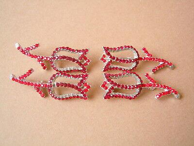 """Pins & Brooches 4 X Silberfarbene Modeschmuck Strass Gablonz Brosche """"tulpe"""" Gesamtgewicht 24,4g Fashion Jewelry"""