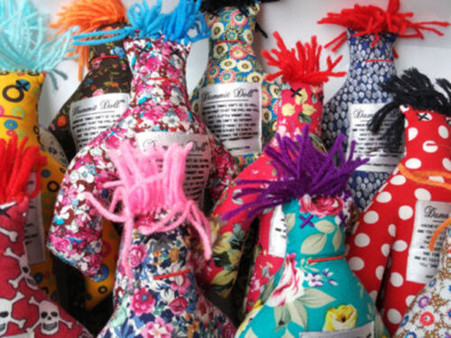 """HOT Random Pattern Colors Stress Relief 12/"""" Dammit Doll Cloth Toys Gift"""