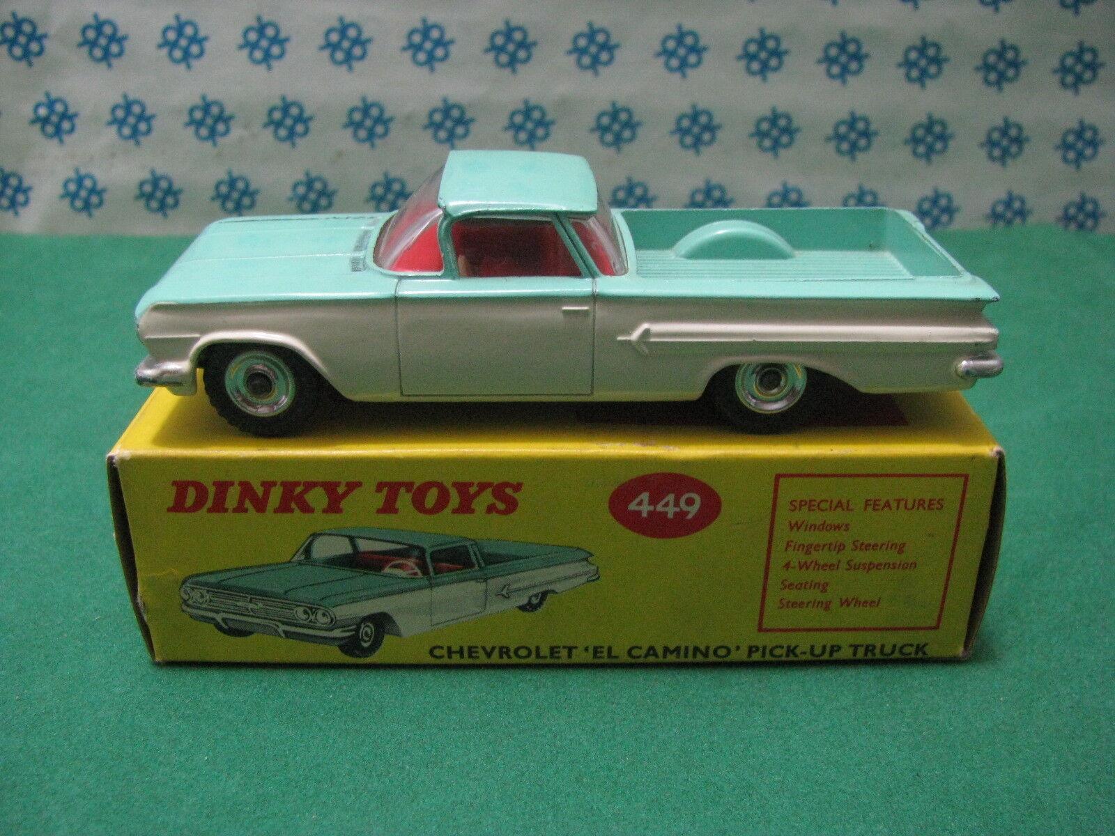 Vintage - Chevrolet El Camino - Dinky Toys 449 Nouveau   Mint Boîte