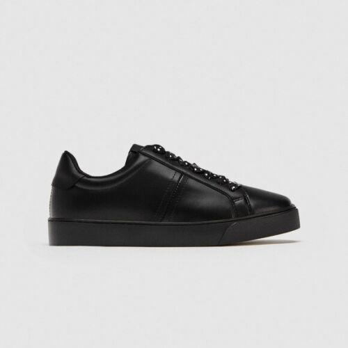 NWT Zara Black Sneakers With Polka Dots