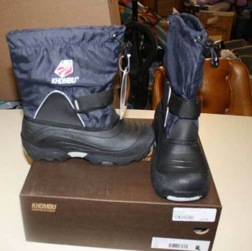 KHOMBU TEAM USA WINTER BOOTS YOUTH 3 NAVY BLUE NEW IN BOX FREE SHIPPING